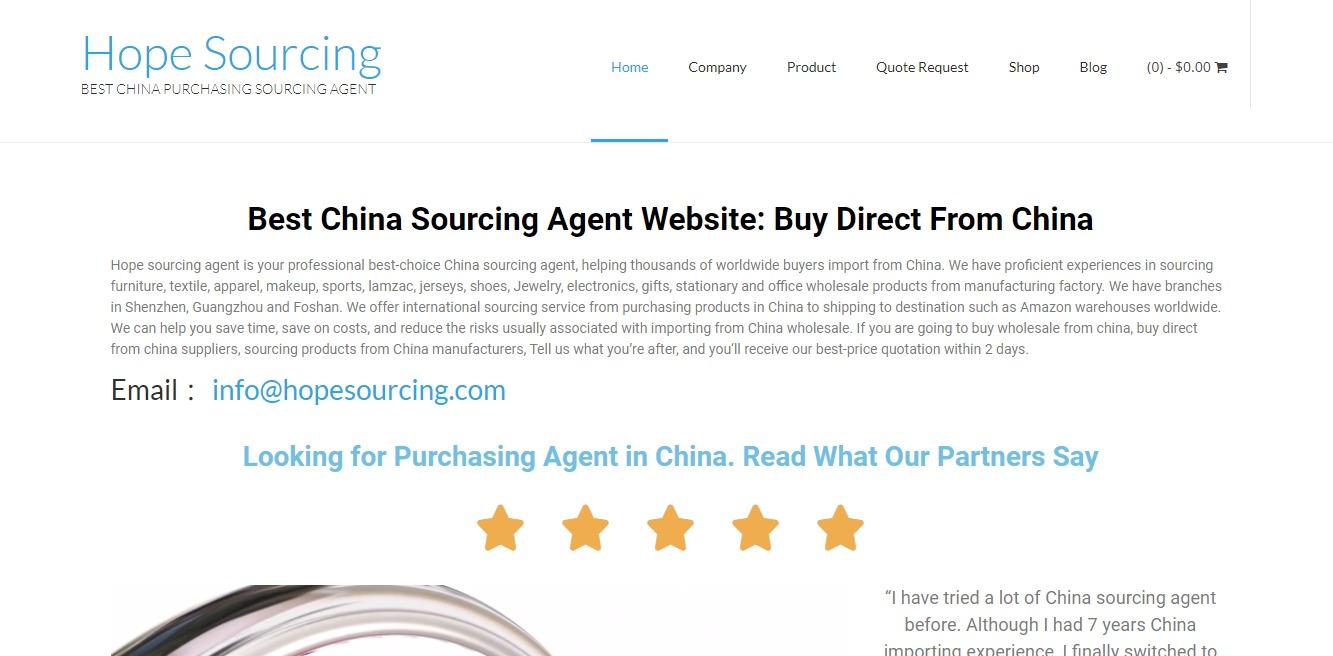 hopesourcing-sourcing-shenzhen agent